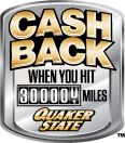 Cash back when you hit 300,000 miles